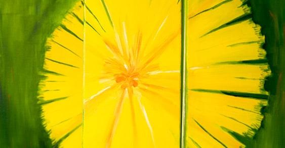 praxis wandbild sonnenblume